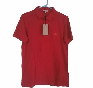 BURBERRY red polo size large BNWT